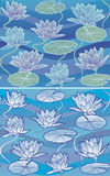 Vector Pattern Waterlily Stock Image
