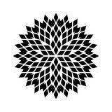 Mandala floral pattern black and white royalty free stock images
