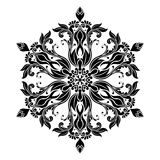 Vintage Mandala Design in White Background Stock Photos