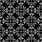Black ABSTRACT seamless pattern in white background Royalty Free Stock Images