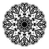 Black ABSTRACT pattern in white background royalty free stock photography