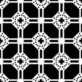 White background and black repeted dot pattern Stock Photography