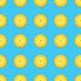 Vector pattern of yellow umbrellas. Background. Royalty Free Stock Images