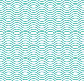 Vector pattern with zigzags. Seamless tiling background. Abstract vintage color ornament for fashion design. Royalty Free Stock Photos
