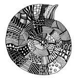 Vector patterned seashell Stock Photo