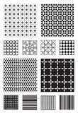 Vector Patterns. 12 Black and White Vector Patterns that tiles seamlessly Royalty Free Stock Photos