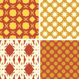 Vector patterns. Cake. Set of seamless  patterns. Minimalism Stock Photography