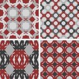 Vector patterns. Cherry. Set of seamless  patterns. Minimalism Royalty Free Stock Photo