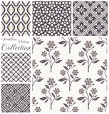 Vector patterns collection. Set of seamless floral Stock Image