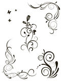 Vector patterns for design. Vector illustration of floral patterns for design Royalty Free Stock Images