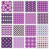 Vector patterns with flowers and hearts Royalty Free Stock Images