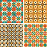 Vector patterns. Middle Ages. Set of seamless  patterns. Minimalism Royalty Free Stock Photo