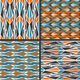 Vector patterns. Peafowl. Set of seamless  patterns. Minimalism Royalty Free Stock Photography