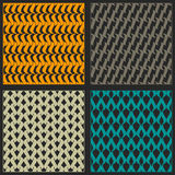 Vector patterns. Set of seamless patterns. Bright color Royalty Free Stock Photo