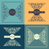 Vector  patterns set in trendy mono line style Royalty Free Stock Images