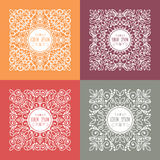 Vector  patterns set in trendy mono line style Stock Photos