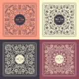 Vector  patterns set in trendy mono line style Royalty Free Stock Photos