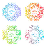 Vector  patterns set in trendy mono line style Stock Images