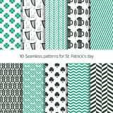 Vector patterns for St. Patrick's day Royalty Free Stock Photos