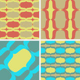 Vector patterns. Waves. Set of seamless  patterns. Minimalism Royalty Free Stock Images