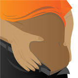 Vector -paunch of belly on white background Royalty Free Stock Photos