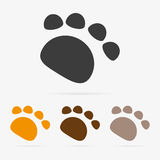 Vector paw icon Stock Photo