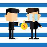Vector : pay debt cartoon Royalty Free Stock Images