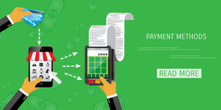 Vector payment methods concept Royalty Free Stock Photography