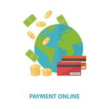 Vector payment online concept Royalty Free Stock Photos
