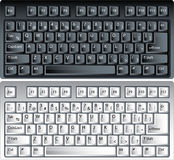 Vector PCtoetsenborden Stock Foto's
