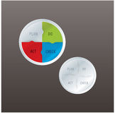 Vector PDCA cycle in modern design. Simple  circle template. Stock Photos