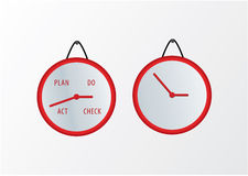 Vector PDCA cycle in modern design. Wallckock theme - PDCA in ti Royalty Free Stock Photos