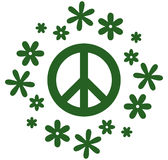Vector peace symbol illustration isolated on white Stock Photo