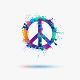 Vector peace symbol Royalty Free Stock Image