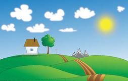 Vector illustration of peaceful land Stock Photography