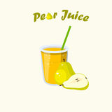 Vector pear juice Royalty Free Stock Image