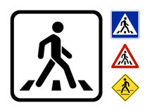 Vector Pedestrian Symbol royalty free illustration