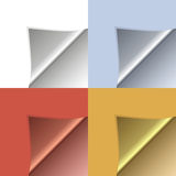 Vector peeling corners set Royalty Free Stock Photo