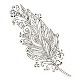 Vector Peerless Decorative Feather, Tribal design, Tattoo Royalty Free Stock Images