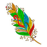 Vector Peerless Decorative Feather, Tribal design, Tattoo Stock Photos