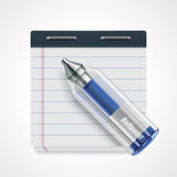 Vector pen and notepad icon Stock Photography