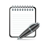 Vector pen and notepad icon Royalty Free Stock Image