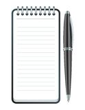 Vector pen and notepad icon Stock Photos