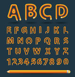 Vector pencil alphabet style Royalty Free Stock Photo