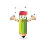 Vector Pencil Celebrate Mascot Stock Photos