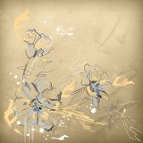 Vector Pencil Hand Drawing Flowers Royalty Free Stock Photos