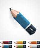 Vector pencil icon Stock Images