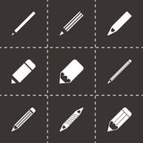 Vector pencil icon set Royalty Free Stock Image