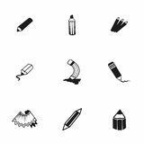 Vector pencil icon set Royalty Free Stock Photo