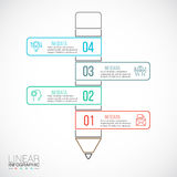 Vector pencil for infographic. Template for diagram, graph, presentation and chart. Business concept with 4 options, parts, steps or processes. Abstract Stock Image